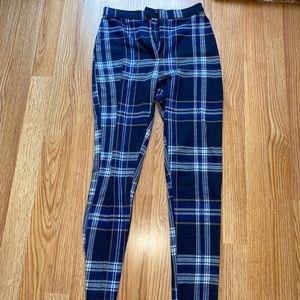 Free People Plaid Skinny Pants Size 0